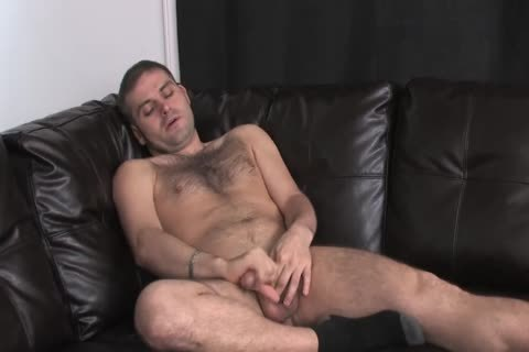 hairy Straight lad jerking off