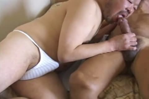 asian older man Has His humongous pecker Sucked By nasty Daddy Bear