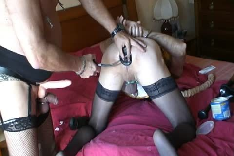 Motherfucker  On The Marital bed And Then Fisted sex tool With A big sex tool