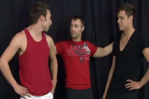Three juicy jocks nailing Hard