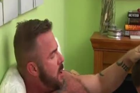 Muscle Daddy And  lad And shoots A biggest Load