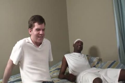 White boy Screams As this dude's Getting His First dark cock