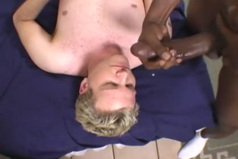blond lad Does Terrible oral-sex-service On A BBC