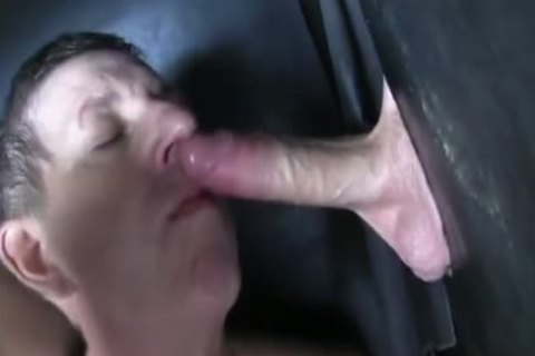 Super giant Uncut cock str8 Aussie Max acquire's Sucked Off At The Gloryhole.