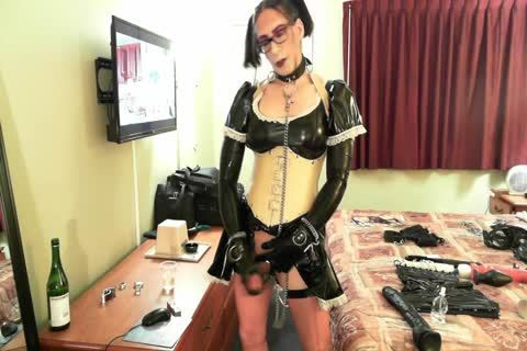 filthy Latex Sissy Maid
