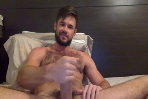 Porn Star Mike De Marko Strokes His large palpitating cock