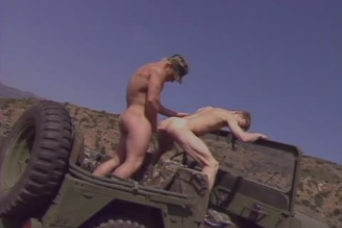 There hardcore Militar gay Sir Pull Over The Jeep To pull out Of Each Others assholes