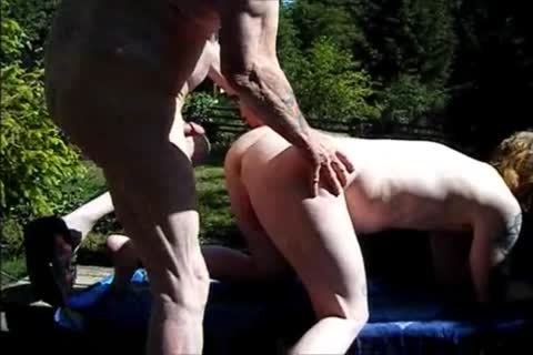 young Redhead bareback With grandad
