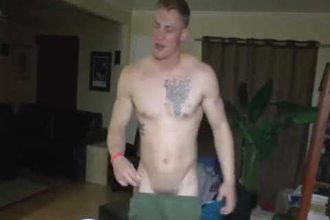 dirty Straight Marine At naked Party