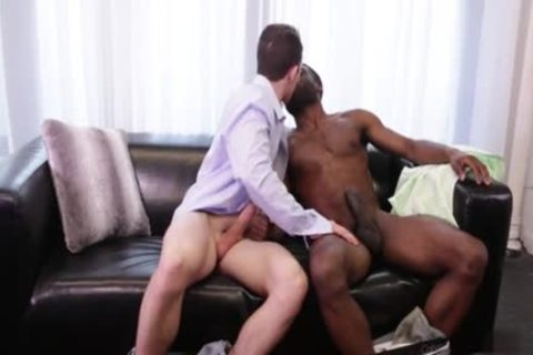 thick dong homosexual Interracial With cumshot
