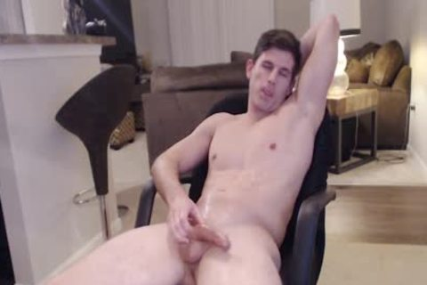 Straight Ripped Hunk likes Fingering His butthole