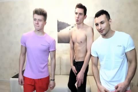 three Russian sleazy twinks With Great Round asses,wonderful dicks On cam