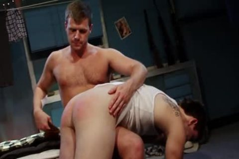Spanked And drilled For sucking Himself