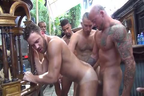 Logan Moore receives group gangbanged – Part 2 (2017)