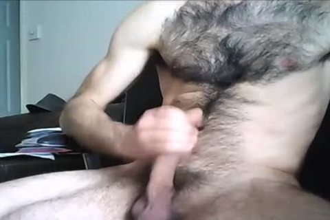 hairy Hung man shoots A massive Load