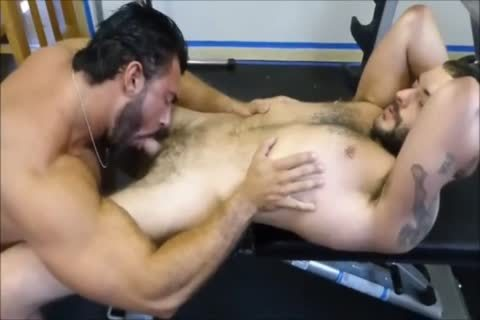 MM Two bushy Muscle Hunks hammer bare At The Gym