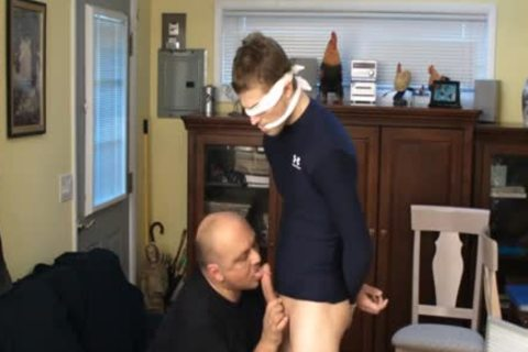 Straight Captive Lad, Fastened And Gagged, Made To sperm