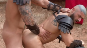 Sacred bunch Of Thebes - Francois Sagat & Ryan drills anal sex