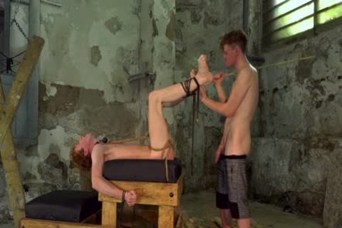 Leo Ocean Reshapes bound Ginger twink wazoo With dick