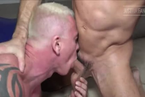 Tatted Muscle Daddy couple & Manuel Skye