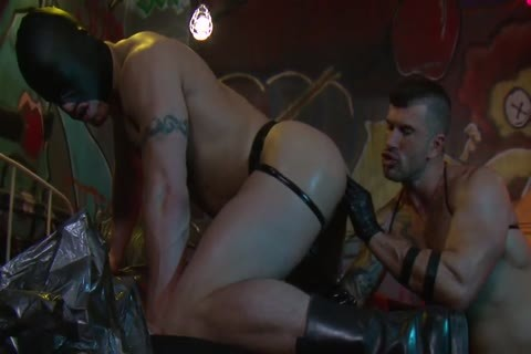 Adam Killian In Latex Forces Jesse Santana To lick His ass
