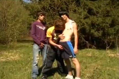 trio teens On First Time Barebacking Outdoor