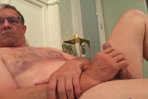 large Dicked dad jerking off 010