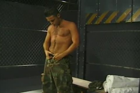 Army twinks Have A enjoyment oral sex Job