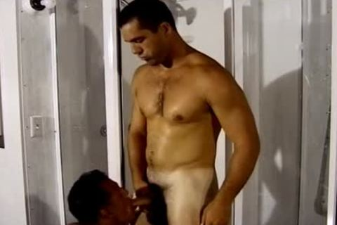 Two handsome Hunks fuck In The Shower whilst u Watch