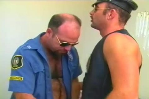 lewd Cop Has A Fetish For Leather And Hard ramrods