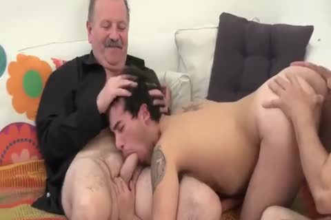 A Son's 3some With His Father And Father In Law