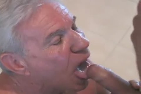 enchanting grandad sucking & Getting pounded By Younger dude