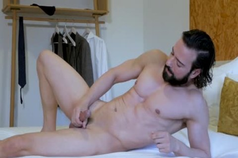 gorgeous Suited lad jerking off