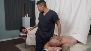 spread At The Spa: unprotected - Trevor Laster & Mateo Fernandez American bang