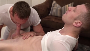 Missionary Boys: Super tasty Elder Holland stroking in the bed