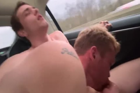 fucking My superlatively valuable friend In Public Down The Highway In A Self Driving Car