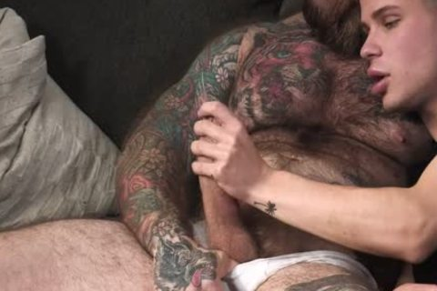 hirsute Bear Barebacks His Stepson
