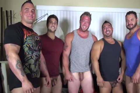In Nature's Garb Party @ LATINO Muscle Bear house - amateur joy W/ Aaron Bruiser