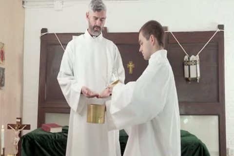 Hung Priest Barebacks delicious boy