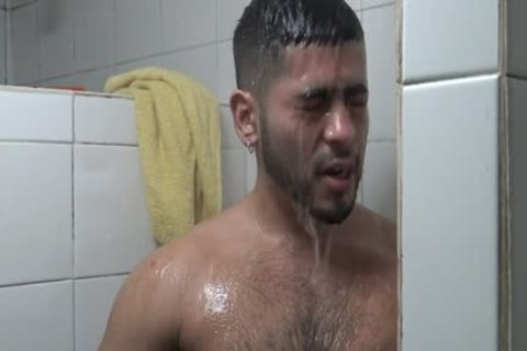 Hung Latino poked In Gym Shower