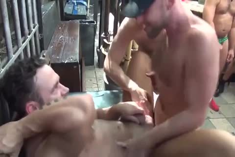 MusclePup Logan Moore Acquires group hammered Barebacked hammer