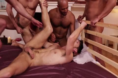Super horny gang bunch-sex - stallions Fervently fuck Devin Franco
