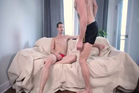Hunky chaps Arm Wrestling And butthole fucking