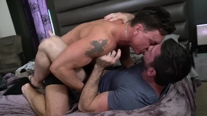 IconMale.com - Muscle Billy Santoro plowed by big dick daddy