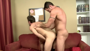 IconMale - Athletic Lance Hart next to Nick Capra sucking cock