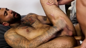 Men Over 30 - Hairy Rikk York and Joe Parker bareback cumshot