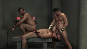 RagingStallion - Tattooed Bruno Bernal cumshot video