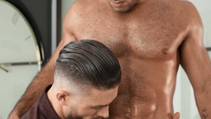 Drill My Hole: Fingering with inked Ryan Rose among Diego Sans