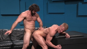 RagingStallion: Johnny V in clamps rushes nailed rough