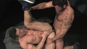 Raging Stallion - Hairy Trenton Ducati anal fucks rimming